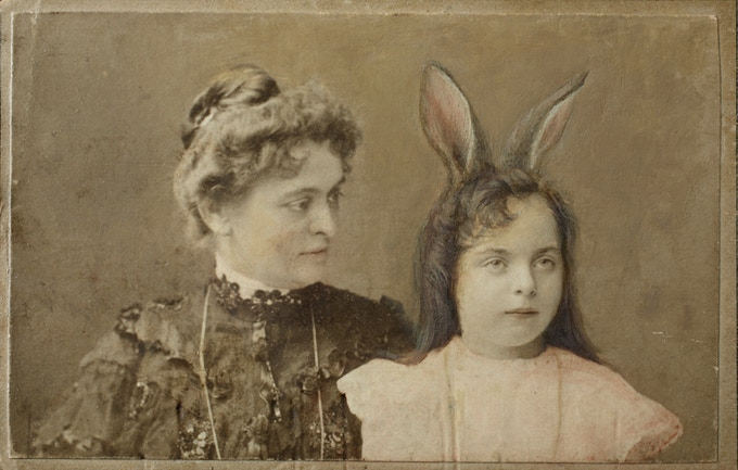 "Braiding them into her hair would never work, even ignoring the smooth skin where her human ears no longer were. No, her rabbit ears had their own ideas.  (from Andrea Martinez Corbin's ""A Lullaby from Long Ago"" in THEN AGAIN)"