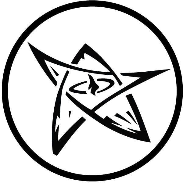Note:  This is an interpretation of the Elder Sign that most people recognize as the Elder Sign.