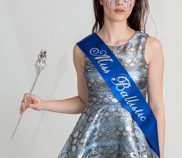 Blue Beauty Pageant Sash