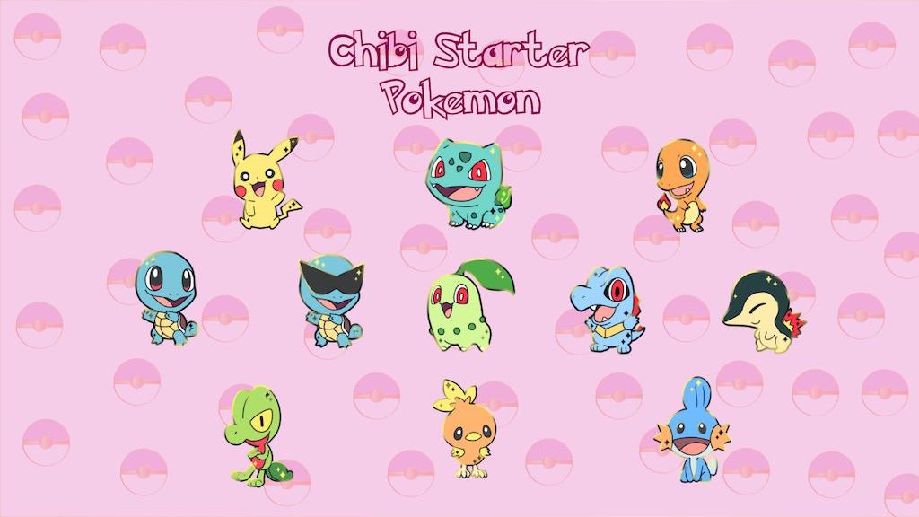 Chibi Starter Pokemon!