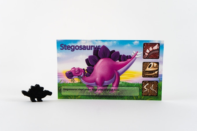 Stegosaurus with it's custom meeple!