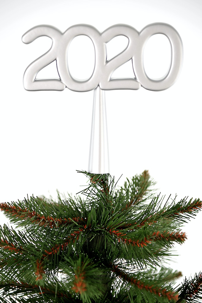 New Year`s Eve topper 4 Christmas tree