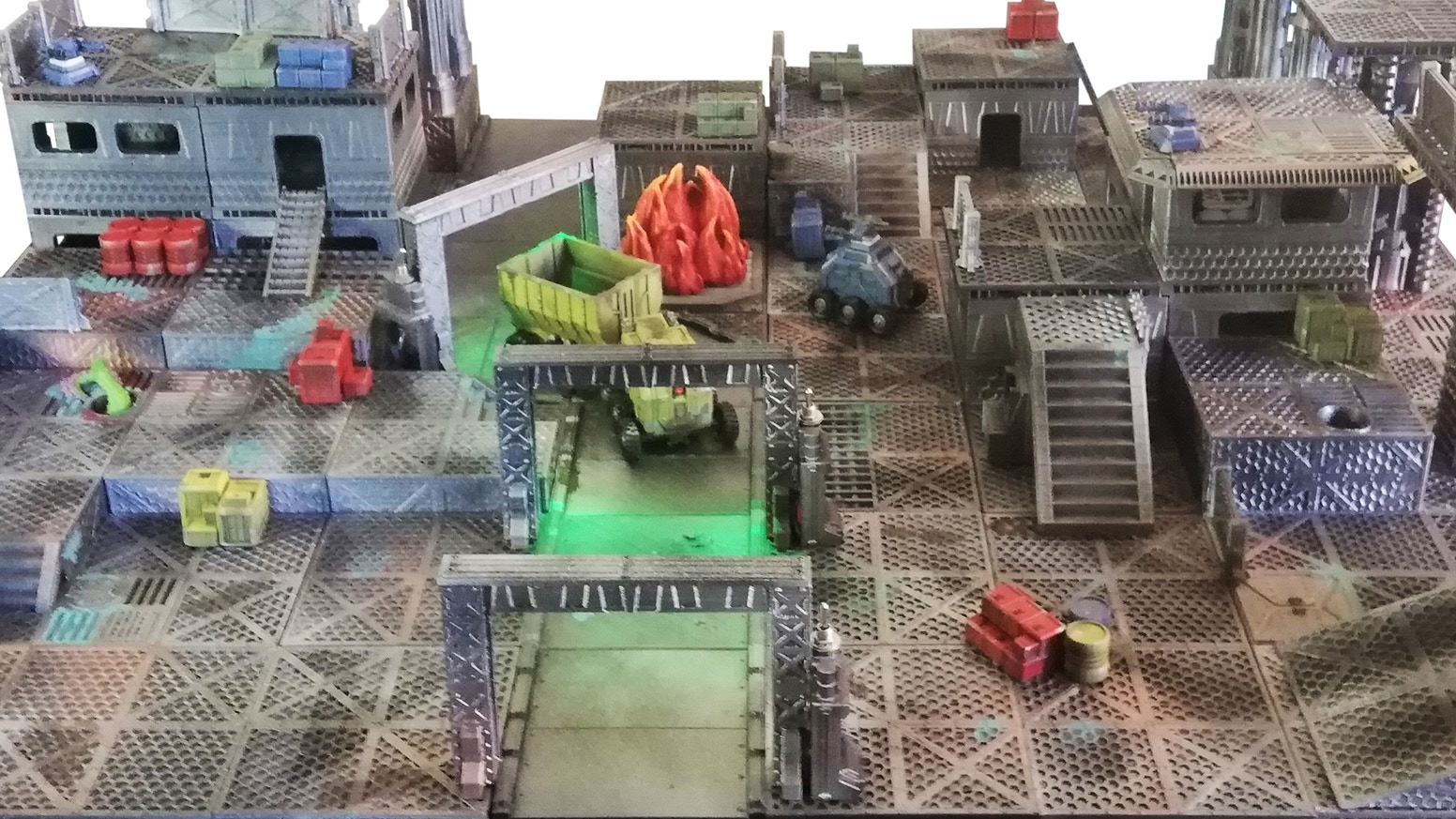 3D Printable SciFi terrain for RPG & Wargame, by Eskice Miniature. High detailed & OpenLOCK & LEDs compatible.