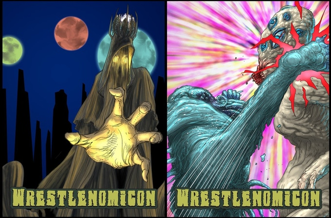 """""""Strange Moons Rise..and You're In the Way"""" or """"Nth-Dimensional Roundhouse."""" Bring them to your phone."""