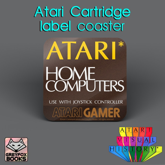 Atari Home Computer Cartridge Label coaster
