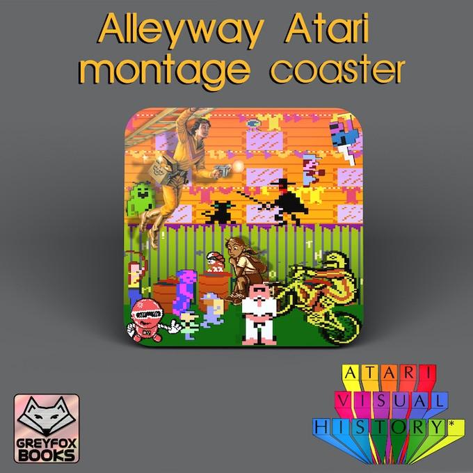 The Alleyway Atari montage Coaster
