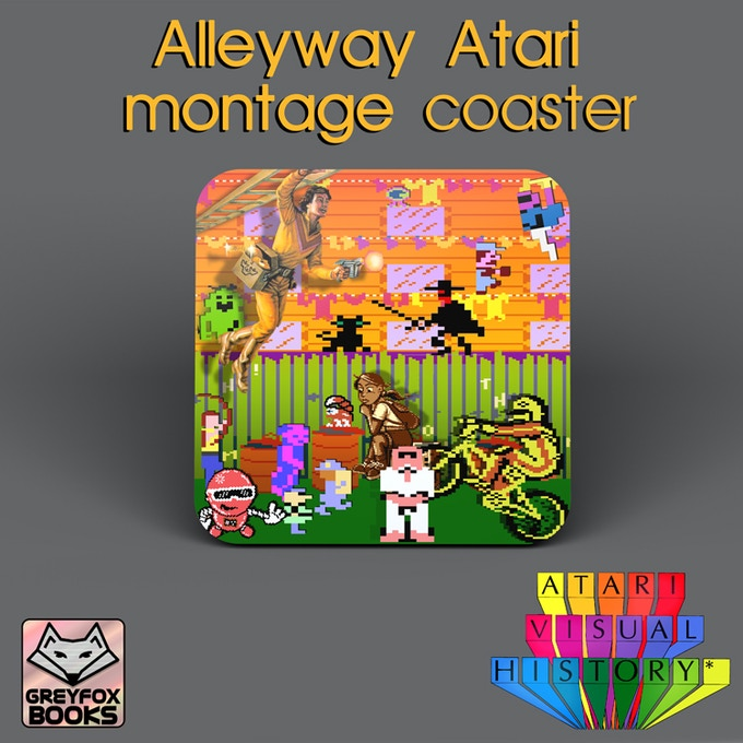 The Alleyway Atari montage Coaster