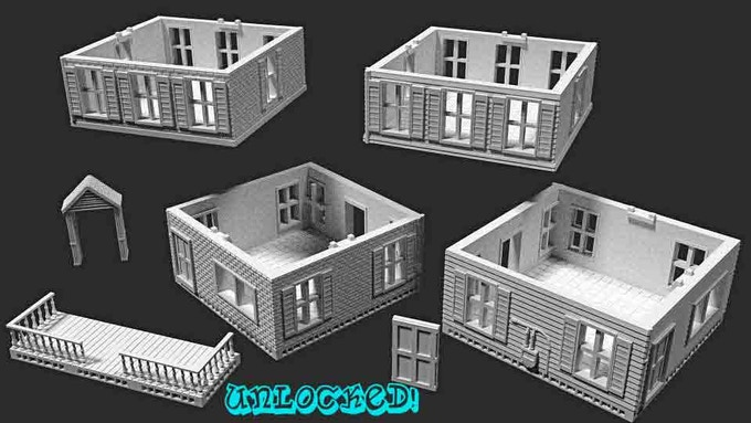 Expand to the suburbs with this modular, interchangeable set! This set is compatible with the Dock House features and other buildings, and includes multiple pieces to assemble two story homes in various combinations!