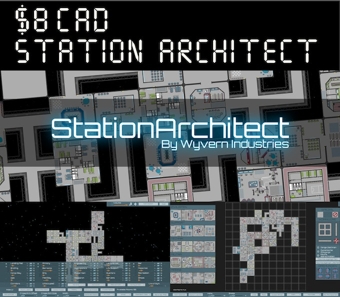 We've partnered with Wyvern Industries to offer you a special rate for Station Architect (through Steam or Itch). This powerful and easy to use editor helps you procedurally generate space stations in seconds for your tabletop rpg needs! If you want to customize the space stations, or create your own from scratch, there are a plethora of options to choose from.