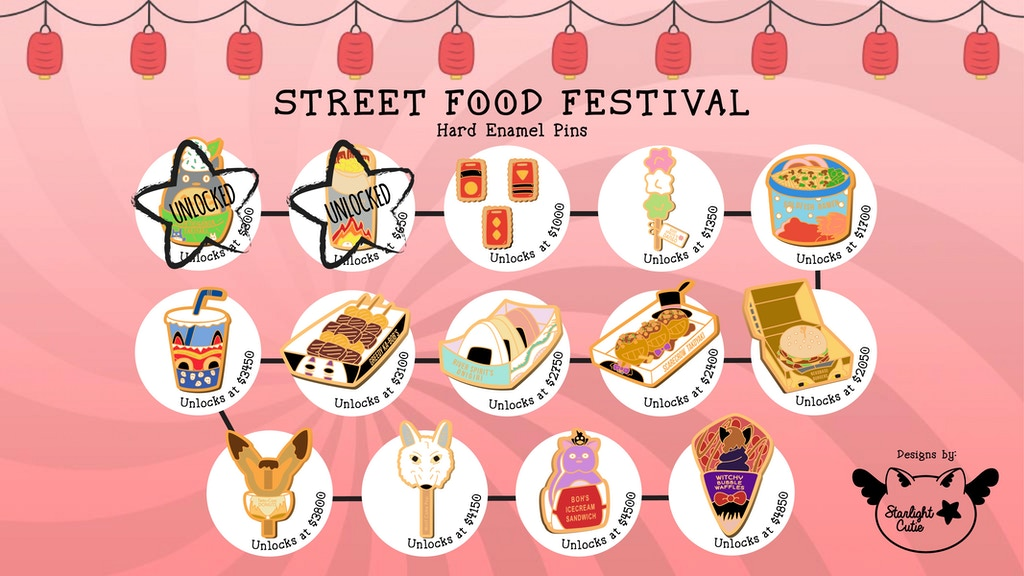 Street Food Festival Hard Enamel Pins