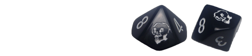 sample IWATC logo dice from Chessex