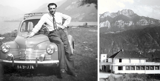 Henri Bourgeaux (TIPTOE founder's grandfather) started a metal manufacturing company near Chamonix in the French Alps where part of the SSD chair is manufactured today (photos taken in the 1950's).