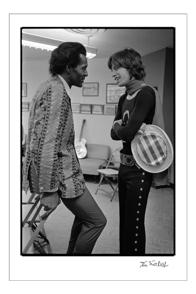 Mick Jagger and Chuck Berry 1969 (24x35 choice)