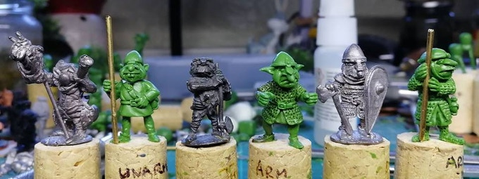 As you can see, they have been scaled so that when cast, they will blend in nicely with classic sculpts.