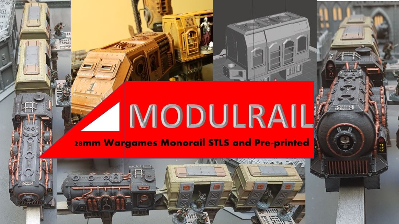 STL files for 3d Printable Monorail for 28mm Wargaming