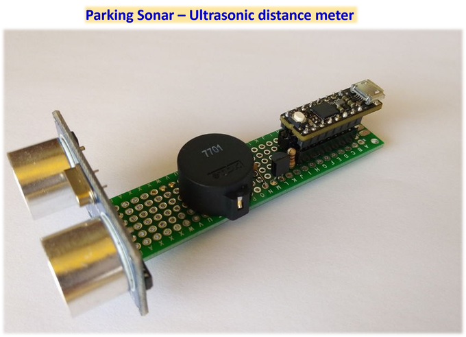 Simple parking sonar. No more dents on your car :)