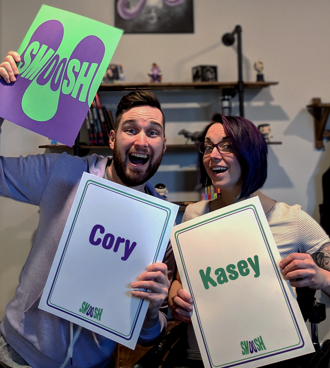 Cory & Kasey The brains behind Wits & Giggles