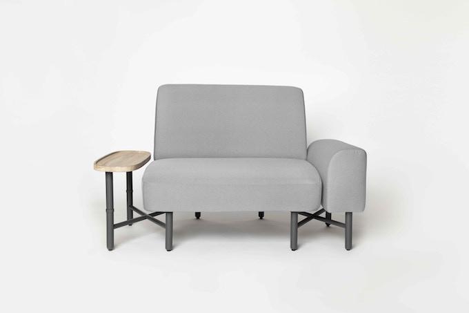 Castella 1.5-seater sofa in Light Grey