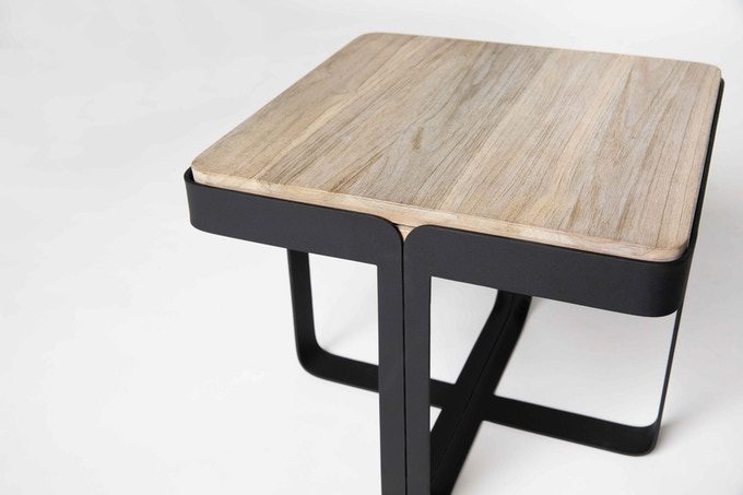 Naughton coffee table in Grey-washed Teak (closed)