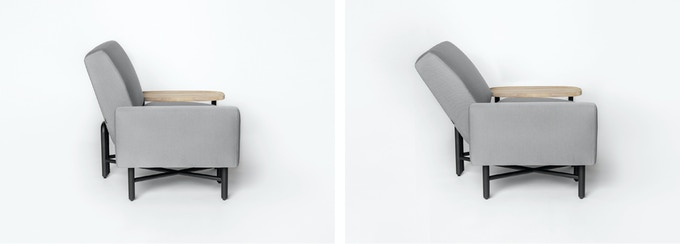An adjustable, ergonomic backrest allows you to choose what's most comfortable for you