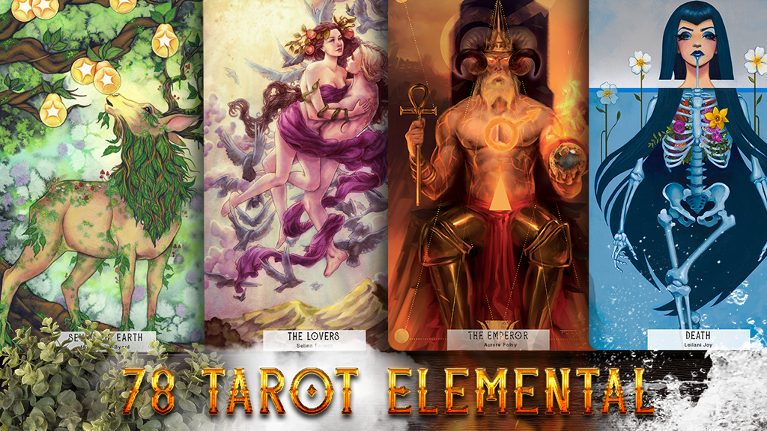 78 Tarot returns to Kickstarter to fund their 6th collaborative Tarot deck - 78 Tarot Elemental, Tarot of the Natural