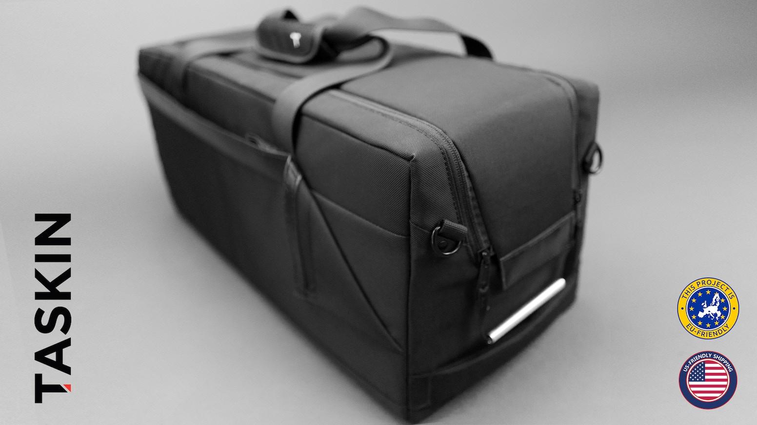 9471efa22 Sleek design and exclusive features make Taskin Kube the best-designed duffel  bag anywhere -