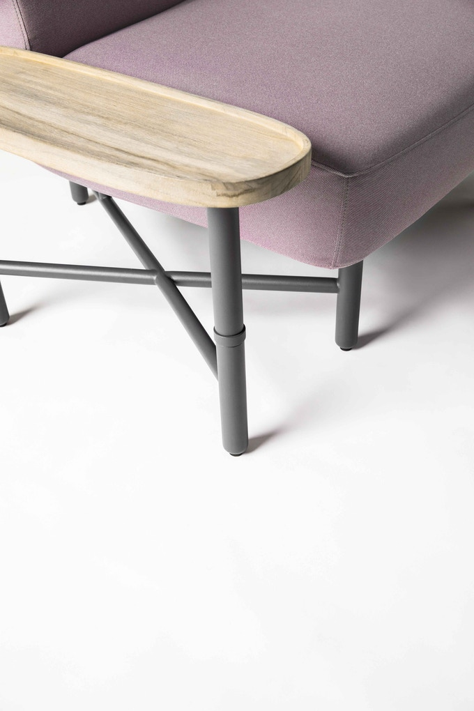 Castella side table in Grey-washed Teak