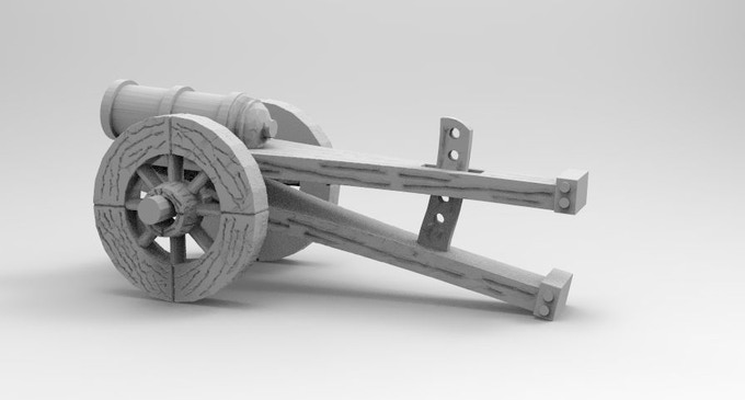 You will get a Medieval blackpowder cannon
