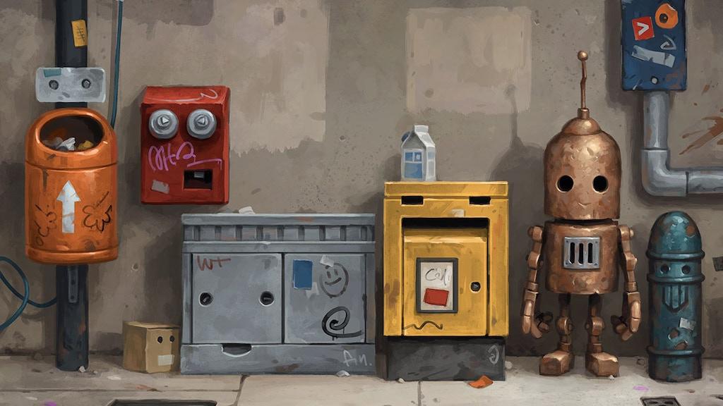 Transmissions 5 - Robot art book by Matt Dixon project video thumbnail