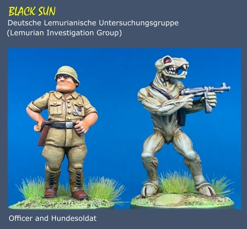 All figures are in 28mm scale unpainted metal miniatures.