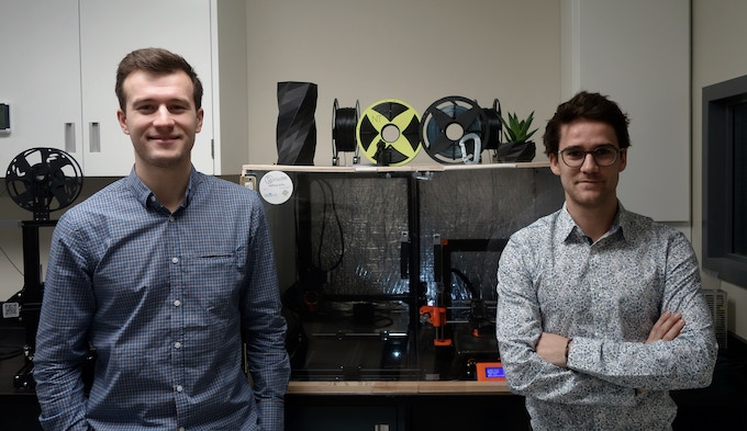 On the left Bastien Lepoutre - Founder of Nefilatek, On the right Angel Chauffray - Associate & R&D engineer