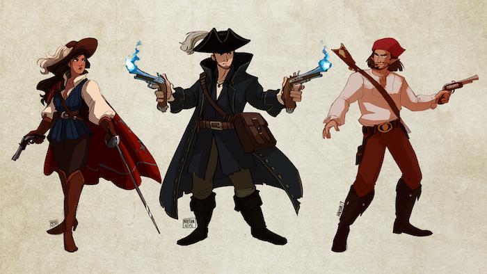 The Musketeer, Arcane Gunmaster, and Pistolero