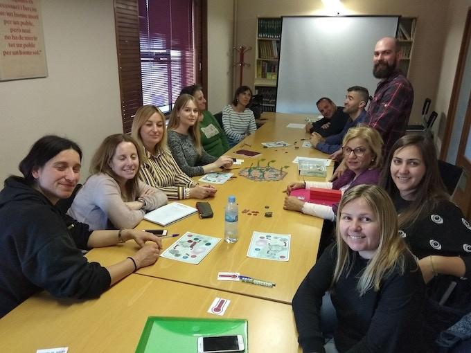 A demo test with regional teachers