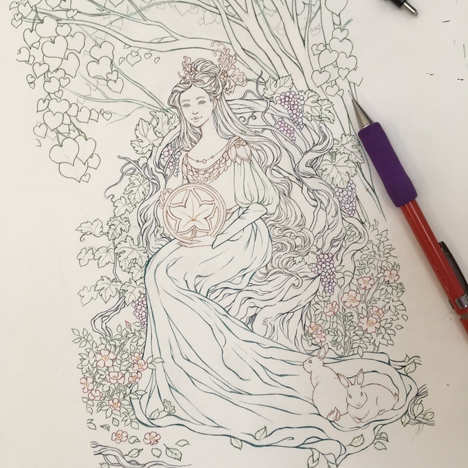 Meredith Dillman Inks her gorgeous Queen of Earth