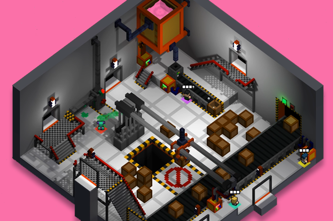 The factory, like the other levels, is already in the game. Its layout as much confusing as fun to navigate.