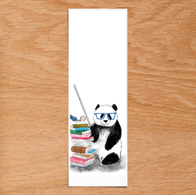 """Page of Swords"" Panda Bookmark (Mockup) - subject to minor design changes"