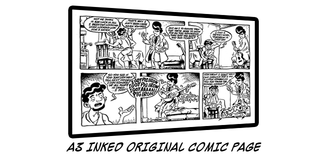 Add £60 to ANY Reward Tier to own an original hand-inked A3 comic page