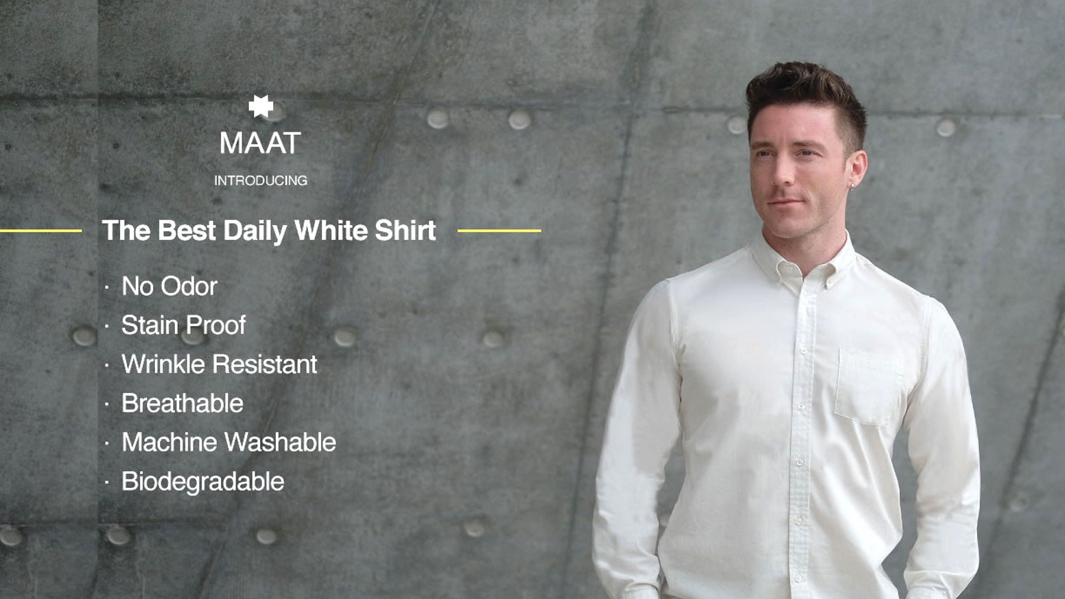 Premium soft and breathable white shirt with anti-bacterial and stain proof. Free Shipping Worldwide.
