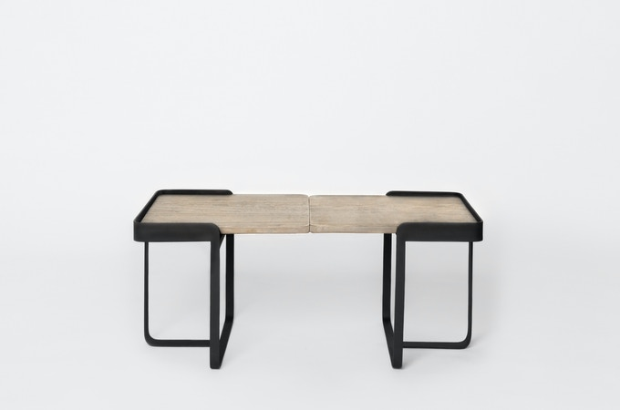 Naughton coffee table in Grey-washed Teak