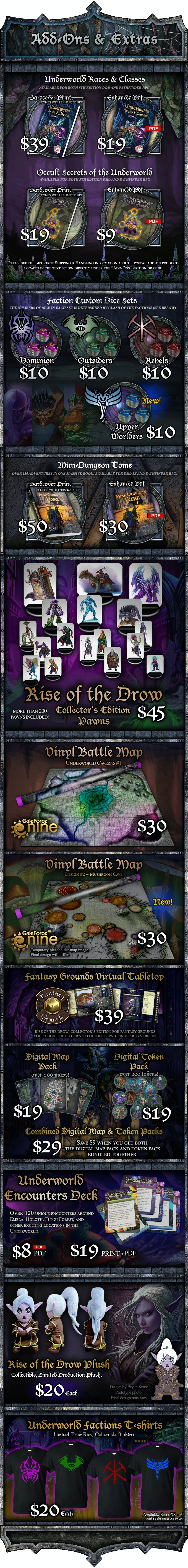 Rise of the Drow: Collector's Edition for D&D 5E or PFRPG by