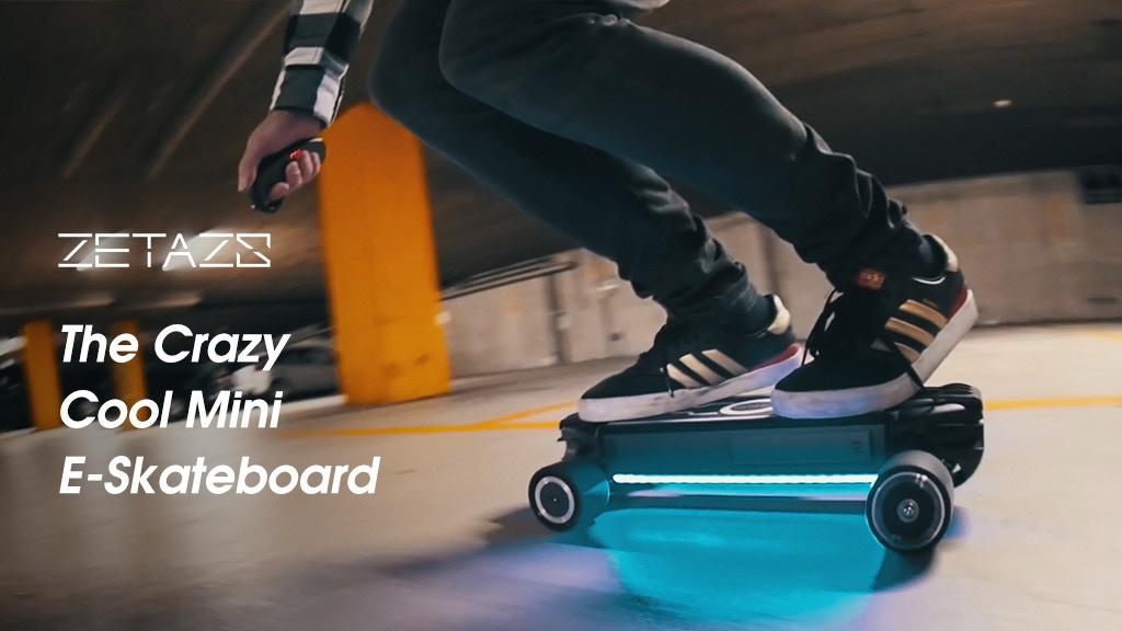 Zetazs - The Crazy Cool Mini Electric Skateboard project video thumbnail