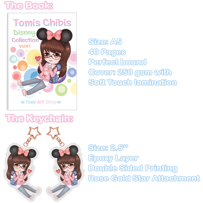 Disney Inspired Art Book - Chibi Collection! by Tomi Art Shop