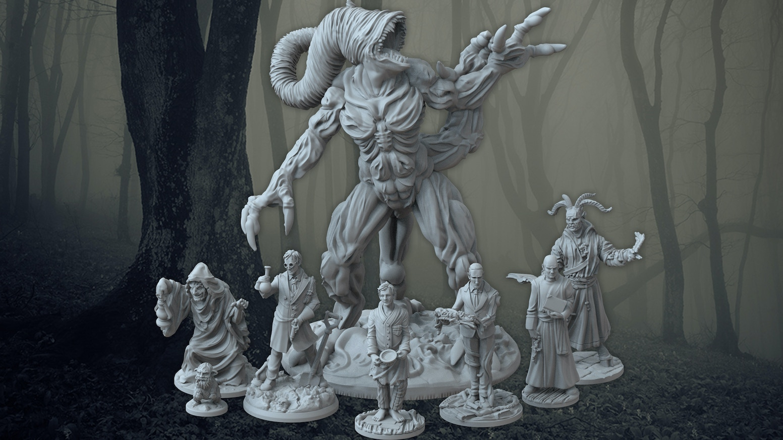 Resin miniatures collection based on H.P. Lovecraft's works, designed for RPG gamers, Painters & Collectors alike. Hand cast in the UK.