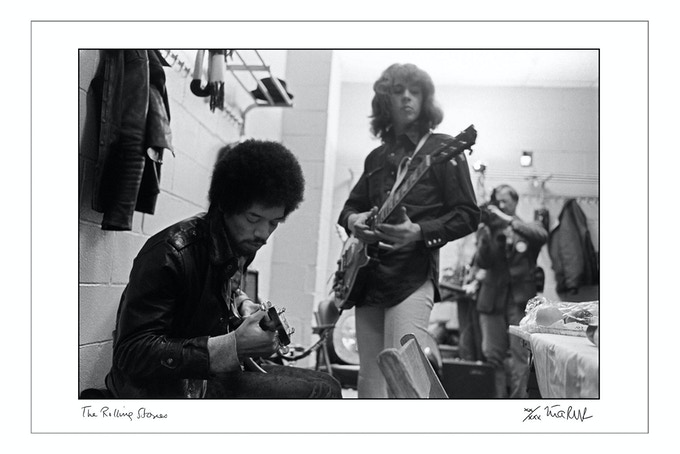 Jimi Hendrix and Mick Taylor Madison Square Garden 1969 (16x20 choice)