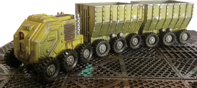 Tractor & industrials wagons. Printed in 0.1 in 4hours for each part.