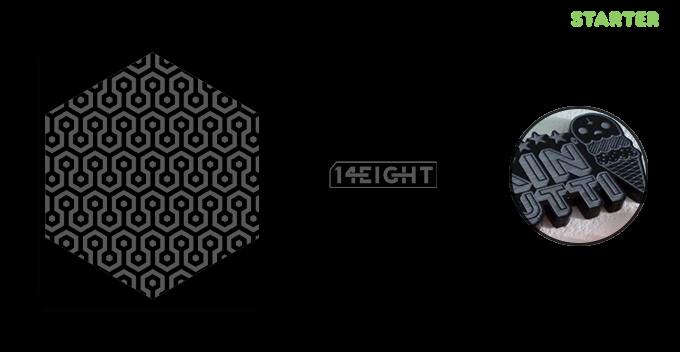 Digital mock-up of the exclusive black acrylic coaster.