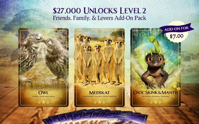 Friends, Family, & Lovers Add-On Pack from The Ark Animal Tarot & Oracle Deck