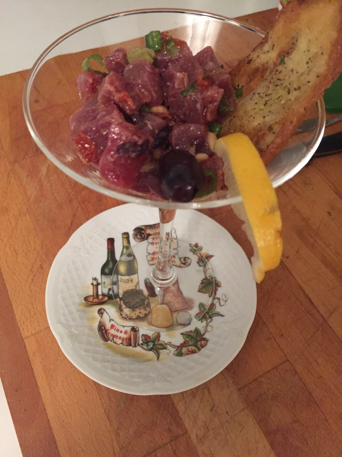The Tuna Tartare photographed by one of my guests!