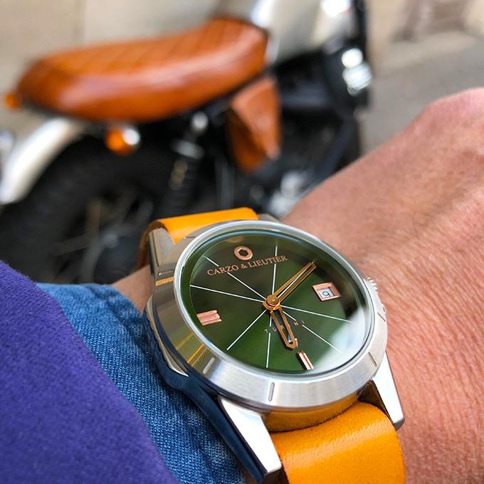 TURINI Quartz Green Light & Steel (with nato strap option)