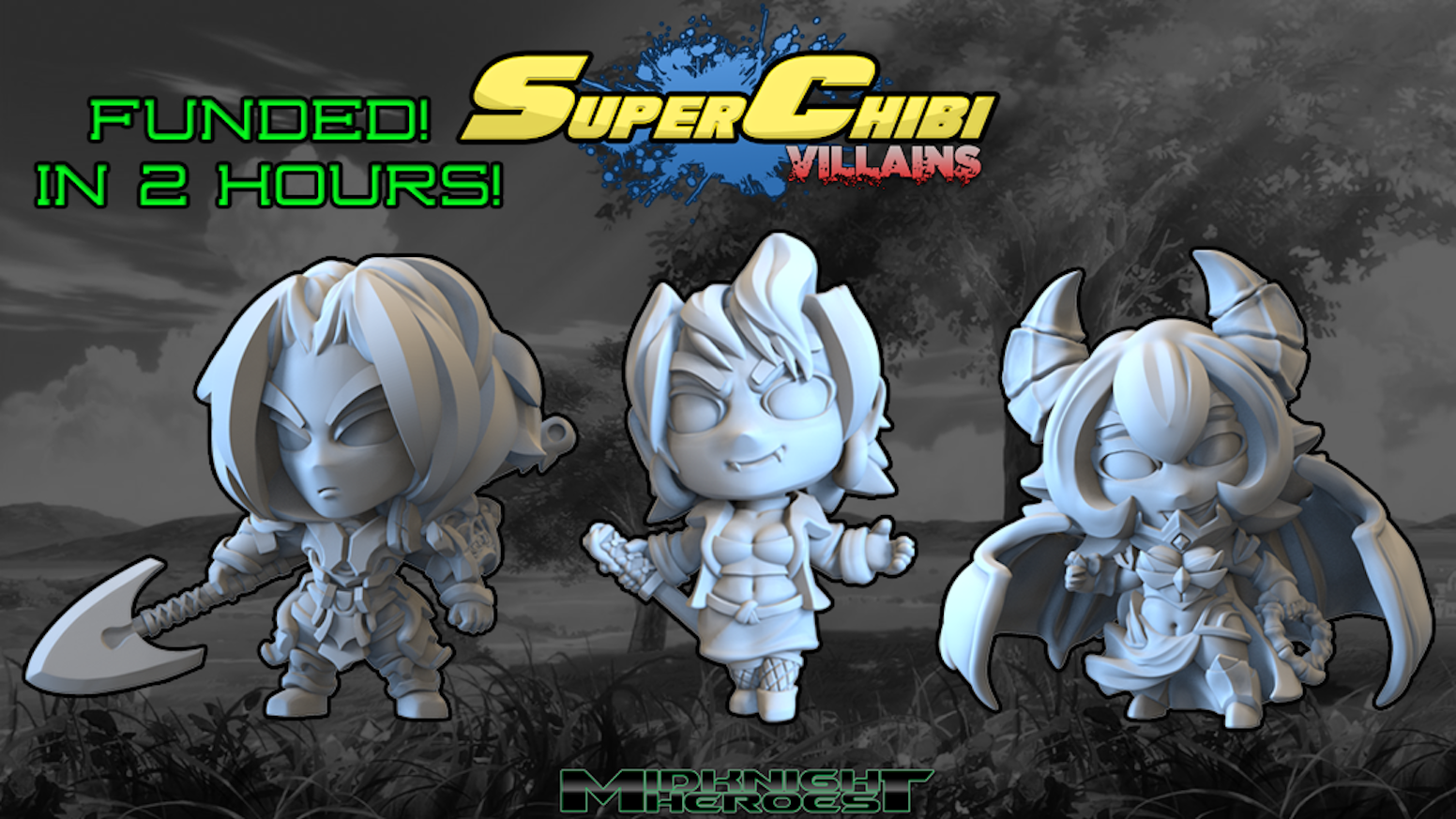 Super Chibi Villians, 30mm resin Chibi miniatures that are seriously cute and bad to the bone!
